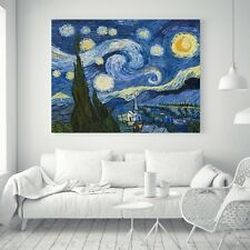 Impressionism The Starry Night Oil Paint Silk Canvas Poster Art Wall Decor A273