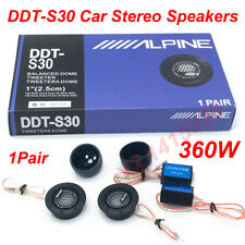 ALPINE DDT-S30 360W Car Stereo Speaker Music Soft Dome Balanced Car Tweeters New