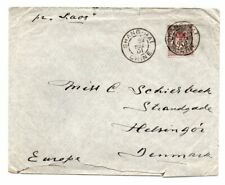 FRANCE/CHINA PO IN SHANGHAI: Cover to Denmark 1901, arr.canc. Scarce.