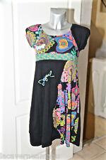 jolie robe noire et multicolore en coton  DESIGUAL taille 11/12  excellent état