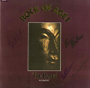 THE Band(Bob Dylan)SIGNED VINYL Rock of Ages Hudson, Levon Helm, Rick Danko,Bell