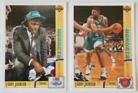 1991-92 UPPER DECK BASKETBALL Larry Johnson 2x Rookie Card Lot NM Hornets Knicks