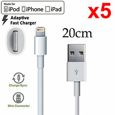 5 Apple iPhone 5 6 7 8 PLUS SE X iPad mini Air Pro lightning data charger cable