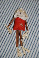 9.5 Inch Tea Bag & Cinnamon Stick Scarecrow -- Fall Autumn Decorations Halloween