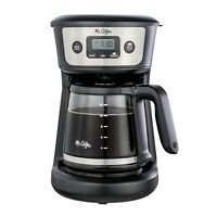 Mr.Coffee 12-Cup Programmable Coffeemaker, Strong Brew Selector, Stainless Steel