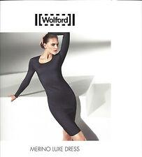 WOLFORD Merino Luxe Dress • XS small • black / schwarz ... als edles Basic Kleid