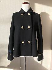Zara Embroidered Pea Coat Size XS NWOT