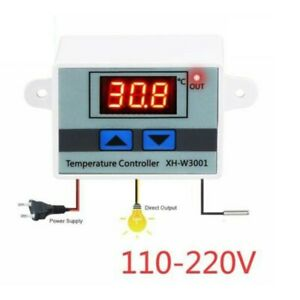 Digital Temperature Controller Relay Output Switch Thermostat 1 Meter 1PCS