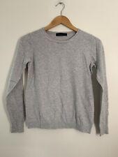 Ladies M&S Jumper 10 Grey Long Sleeve Casual Acrylic <JS3128