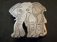 petit ornement, boucle de ceinture vintage 80 éléphant - retro belt buckle