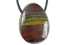 Pendentif oeil de fer (pierre trouée) acier inoxydable