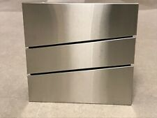 Stainless Steel Letterbox Postbox - Lockable, Wall Mounted, Large, Modern