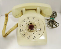 Vintage Beige Northern Telecom NT 500AX Rotary Desk Telephone Tested & Works