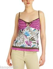 New O'Neill Moa River Womens Tank Top Pink Aop Extra Large (UK 14)