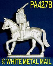 PA427B Militare PIOMBO CASTING 1:38 cavaliere medievale francese Montata Visiera verso il basso
