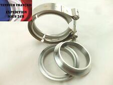 "Collier de serrage INOX / ACIER, V-band, 3,5"" => 88,9 mm, CNC , VENDEUR FRANCAIS"