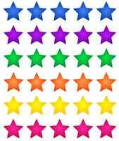 30 x Stars Multi Colour Cupcake Toppers Edible Wafer Paper Fairy Cake Toppers