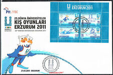 TURKEY 2011, 25TH WINTER UNIVERSIADE ERZURUM ( SKI ) FDC