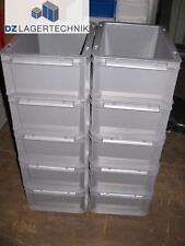 10x EF 4220 grau SSI Schäfer Kiste Lagerkiste Stapelbehälter Kasten 400x300x220