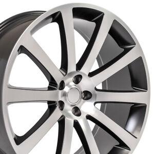 "22"" Rim Fits Dodge 300 SRT8 Magnum Charger CL02 Satin Blk Machd 2253 22x9 Wheel"