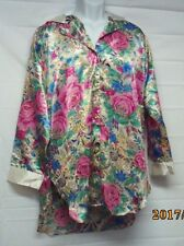 Victoria's Secret Vintage Gold Label Floral Nightshirt Women's Size M/L (U14)
