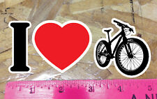 "I Love Fat Bike Mountain Biking I Heart Fat Bikes Sticker 5"""