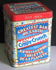 "NEILSON Cadbury CRISPY CRUNCH 6"" Choc Candy Avertising Metal TIN CIRCUS FREE SH"