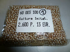 2600 Stück Perlen 3mm Cultura Imitat  erstklassige Qualität Nr. 1
