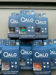 Qalo Silicone Women's Ring Wedding Band Many Sizes and Colors