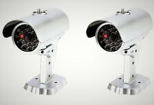 Mitaki-Japan SET of 2 Dummy Fake Bullet Security Camera With Blinking Red Light