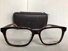 New Ermenegildo Zegna EZ 5022-F 056 Tortoise Asian Fitting 56mm Eyeglasses Frame