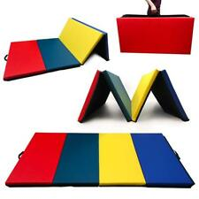 Angel Canada 4 Panel PU Leather Folding Gymnastics Gym Fitness Exercise(mix)