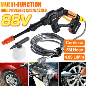 Cordless High Pressure Water Cleaner Sprayer Electric Washer Spray Gun 15000mAh