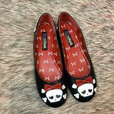 Gothic Punk Pirate Skull Design Halloween Costume Ballet Flat Shoes - Size 9