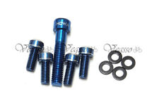 NEW MOWA WATER BOTTLE CAGE BOLTS + HEADSET STAR NUT SCREW, BLUE