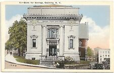 Bank for Savings in Ossining NY Postcard