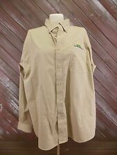 Co-Alliance LLP Shirt Lands End Men's Khaki Casual Size XL (17-17 1/2)
