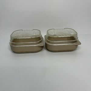 """Lot of 2 Anchor Hocking Covered Microwave Dishes Melamine PH503 5"""" x 4"""""""