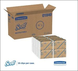 Scott Essential Multifold Paper Towels 01840, Fast-Drying Absorbency Pocke - New