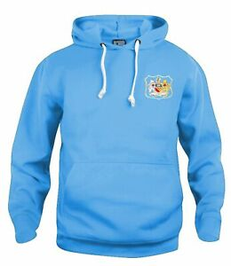 Manchester City 1940s Retro Football Hoodie Embroidered Crest S-XXXL