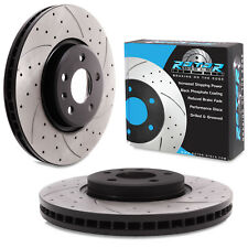 FRONT DRILLED GROOVED 320mm BRAKE DISCS FOR AUDI A4 A6 A7 Q5 QUATTRO AVANT