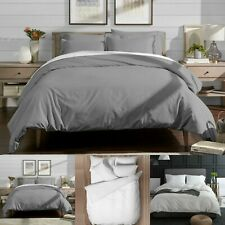 DUVET COVER SET 100% EGYPTIAN COTTON 600 THREAD COUNT BEDDING SETS DOUBLE KING