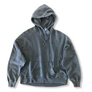 HOLLISTER (LRG) Jr Girls Graphic Logo Pullover Hoodie Gray oversized $44 **NEW