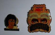 MICHAEL JACKSON  DANGEROUS WORLD TOUR/PEPSI + JACKSON'S FAMILY - 2 RARE PINS
