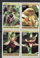 25231) Cyprus 1981 MNH New Orchids 4v