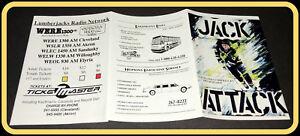 1993-94 CLEVELAND LUMBERJACKS TICKETMASTER HOCKEY POCKET SCHEDULE