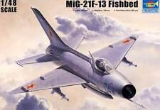 Trumpeter - MiG-21 F-13/J-7 Fishbed DDR Finnish CSSR China USSR Soviet 1:48 kit