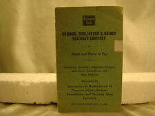 Very Interesting Salary Book from 1937 - Burlington Route