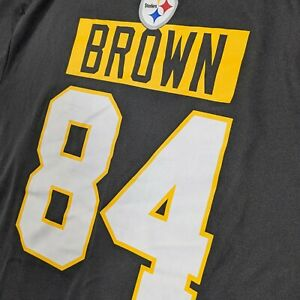 Antonio Brown Jersey T Shirt Pittsburgh Steelers Mens Large NFL TX3 COOL NWT