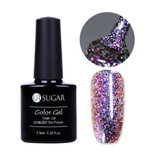 7.5ml UR SUGAR UV Gel Nail Polish Chameleon Soak Off Holo Glitter Varnish Purple